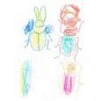 07064307s 昆虫と恐竜(彩色)②