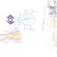 07064309s 昆虫と恐竜(彩色)④